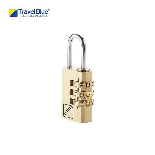 Travel Blue TB031G  3Dial Combination Lock Suitcase Padlock - Gold