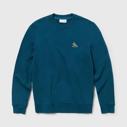 LACOSTE Men's Crew Neck Fleece Sweatshirt  - Size 3