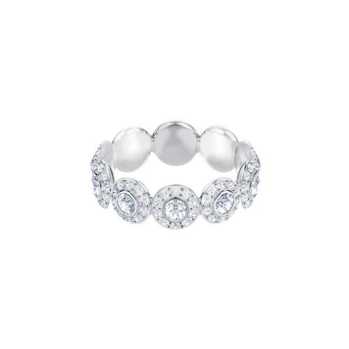 SWAROVSKI Angelic Ring, White, Rhodium plating-Size 52