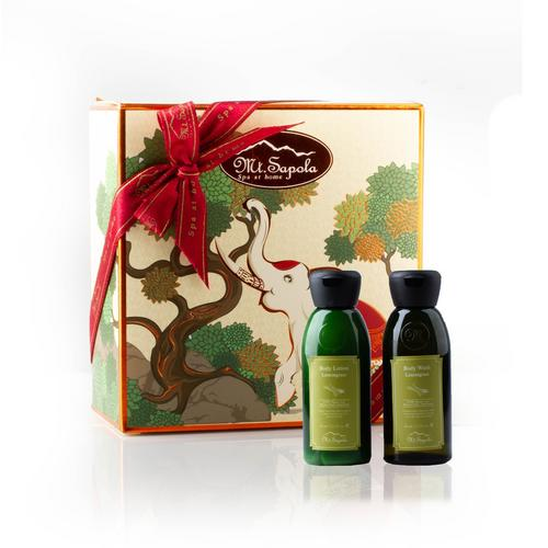 Mt.Sapola Paper Box  (Massage Oil and Body Lotion-Lemongrass)