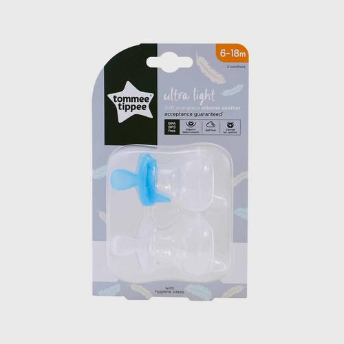 TOMMEE TIPPEE  Ultra Light Silicone Sooth For 6-18 months - Blue