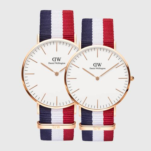 DANIEL WELLINGTON Classic Cambridge Rose gold 40mm + Classic Cambridge Rose gold 36mm