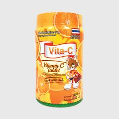 Vita - C orange flavor (维生素C片保健食品,橙子味,一片维C含量为25毫克) 400 g.