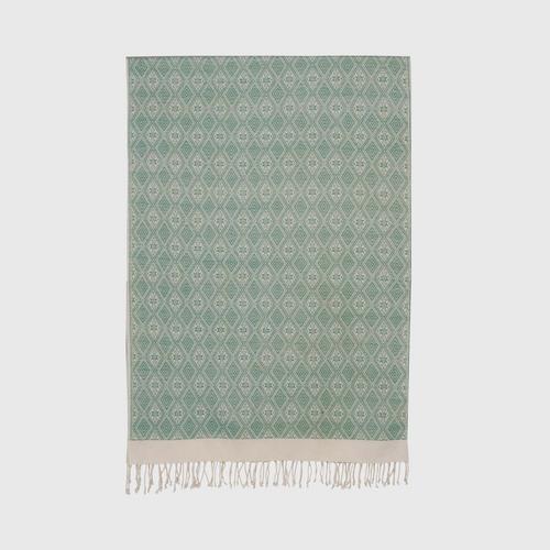 Suntree : Shawl, Green and White