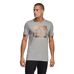 ADIDAS MEN FOIL BADGE OF SPORT TEE- SIZE S