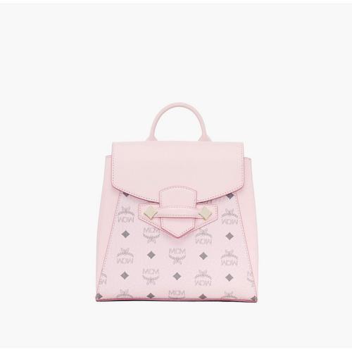MCM Small Essential Backpack Visetos Original - Powder Pink