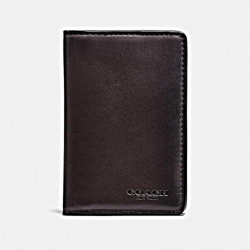 COACH Card Wallet in Sport Calf Leather - CHESTNUT