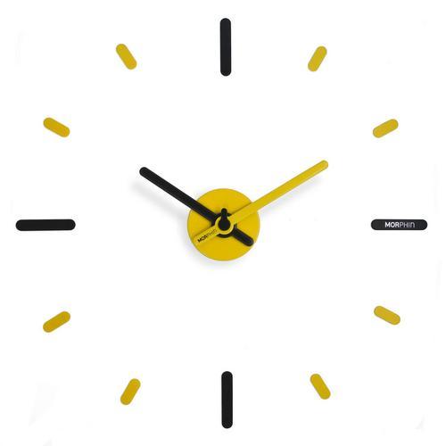 Morphin wall clock Black-Yellow