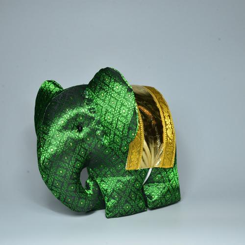 KACHA Elephant Doll Size L 15 x 23 x 18 cm. GREEN