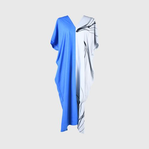 AL-HAMEEN BATIK  Casual wear batik (Hill tribe style) -  Blue/gray