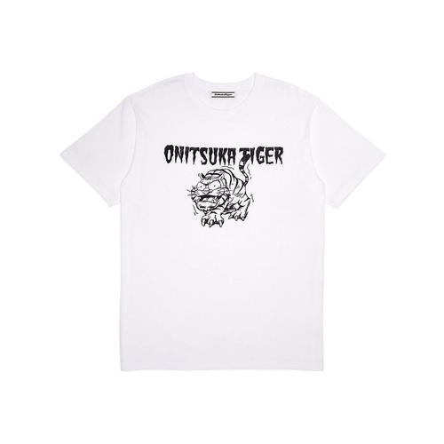 Onitsuka Tiger  GRAPHIC TEE 2183A465.101. WHITE/BLACK SIZE :  L