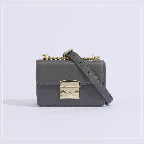 BUBUBEE BON BON BOX BAG (GRAY) W17 x H12 x D8.5 CMS