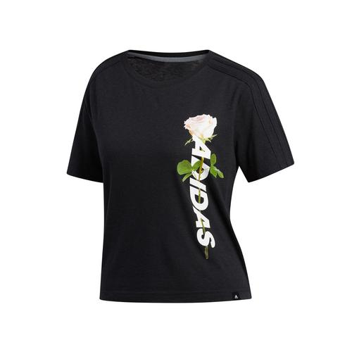 ADIDAS WORK IN PROGRESS FLORAL ESSENTIALS TEE Size XS