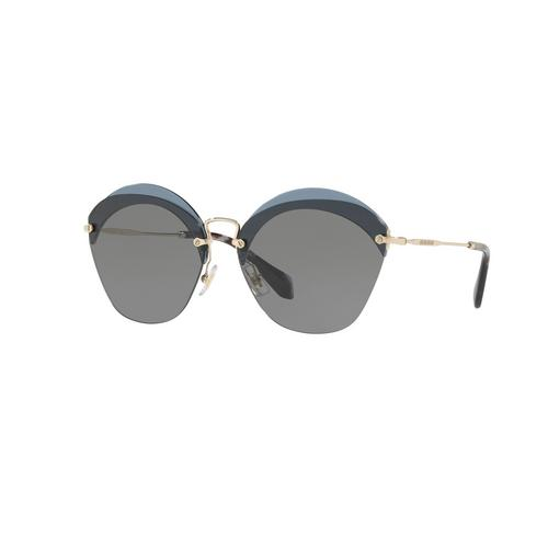MIU MIU TRANSPARENT BLUE GREY Female Sunglasses