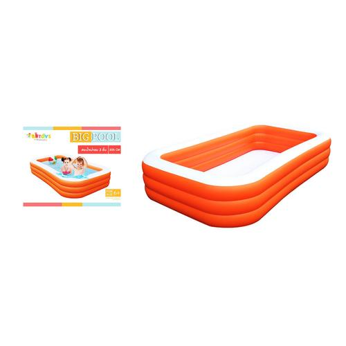 BB TOY  Swimming pool size 2.05 meter x 3 layers orange.