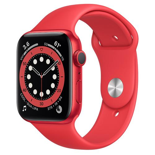 Apple Watch Series 6 (GPS) (PRODUCT) Red Aluminum Case with (PRODUCT) Red Sport Band(44mm)