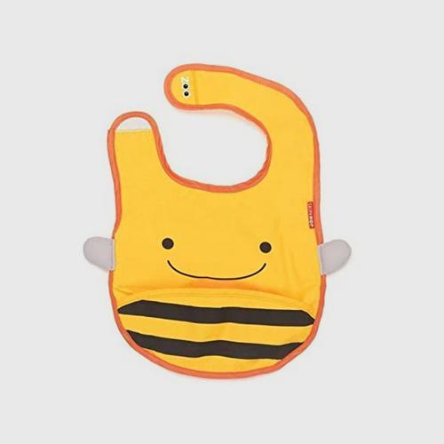 SKIP HOP Baby Apron Zoo Bib Bee Style