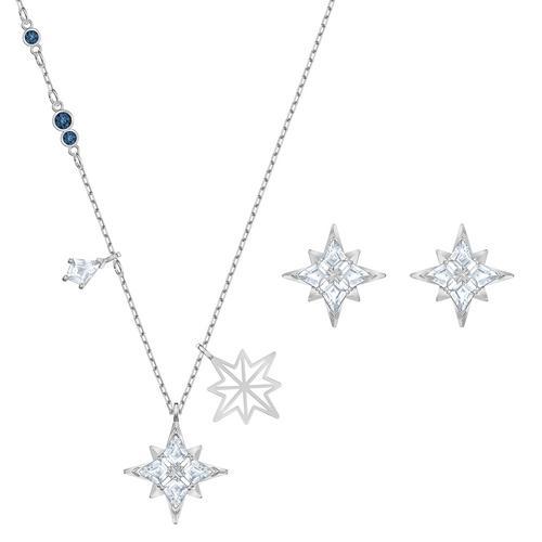 SWAROVSKI Symbolic Star Set, White, Rhodium plated