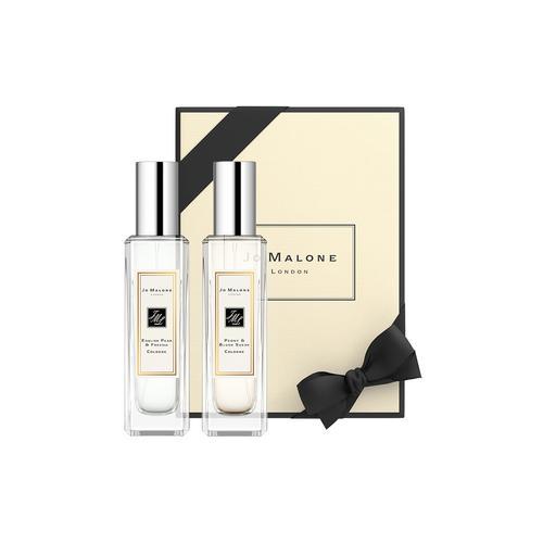 祖·玛珑 香水系列2件组─英国梨与小苍兰和牡丹与胭红麂绒 2x30ml