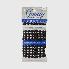 GOODY Women's Black Forever Elastics, Black 10CT
