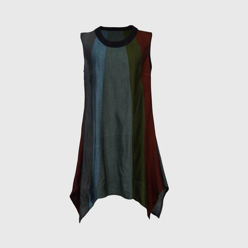 Suntree : Dress, patchwork and asymmetric style M