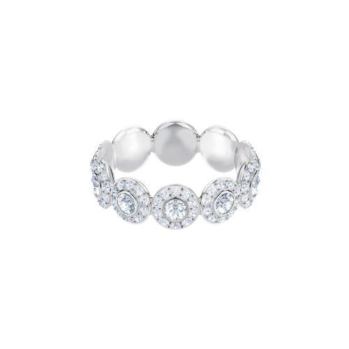 SWAROVSKI Angelic Ring, White, Rhodium plating-Size 55