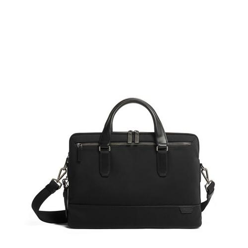 TUMI HARRISON SYCAMORE SLIM BRIEF - BLACK