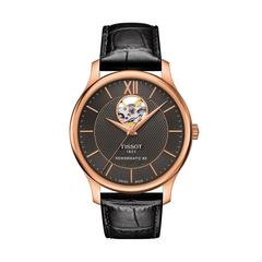 TISSOT Tradition Open Heart Rose PVD  40mm (Anthracite Dial)