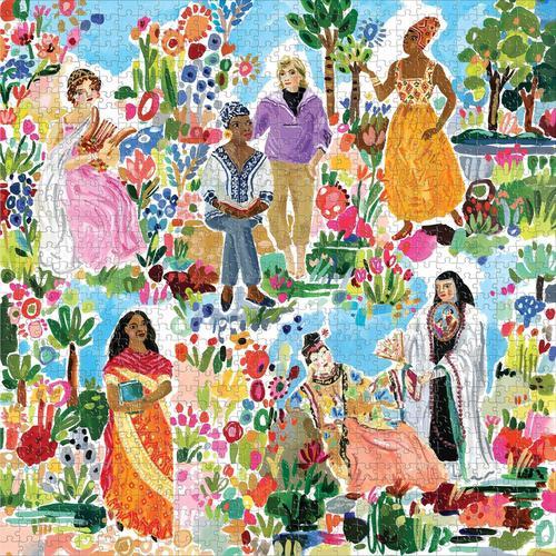 EEBOO - Poet's Garden 1000 Pc Sq Puzzle