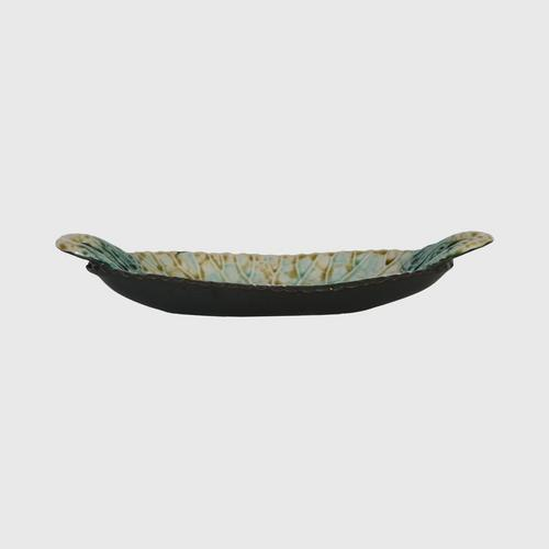 CHULABHORN  LOTUS Oval Shape Plate Brown A1026-22M