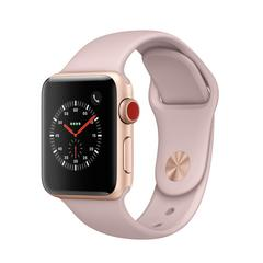 APPLE WATCH Series3 GPS+Cellular 38 mm Gold Aluminium Case with Pink Sand Sport Band