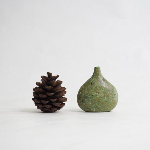 103 Paper mini vase Size L green