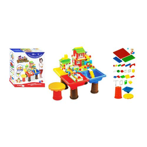 BB TOY Table: 248 pieces + chairs.