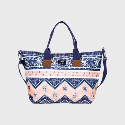 ROXY Dark Blue/Pink Good Things 19L - Medium Tote Bag