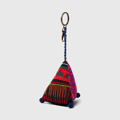 MAHANAKHON TRIANGLE PILLOW KEYCHAIN