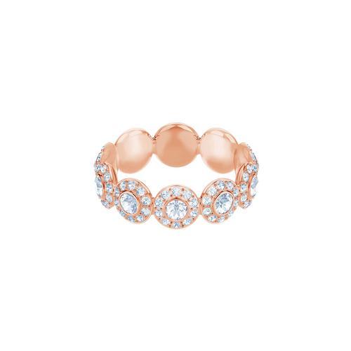 SWAROVSKI Angelic Ring, White, Rose gold plating-Size 55