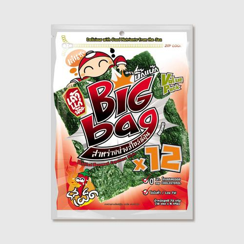 Taokaenoi Grilled Seaweed Spicy Flavour (Big Bag Brand)