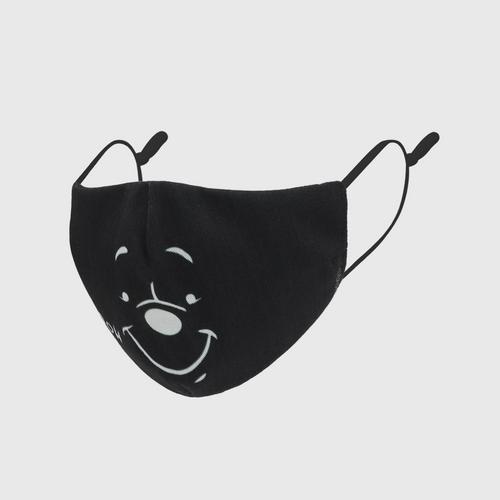 DISNEY Fabric Mask P IS POOH Black