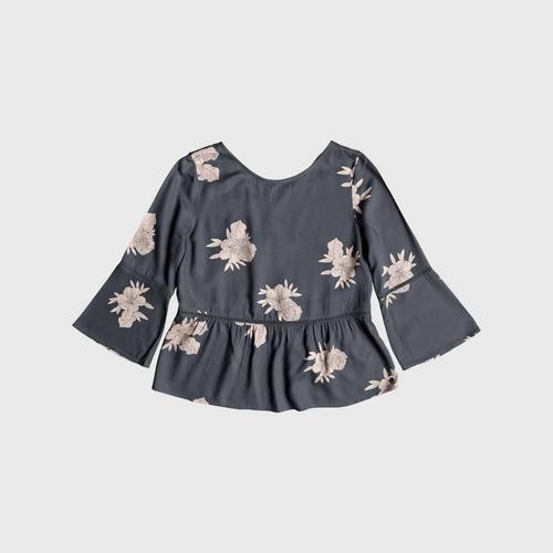 ROXY Blue Broadway Colors 3/4 Sleeve Shirt size XS