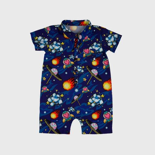 LOLLIPOP Insert Coin Join In Collection 16-Bit Galaxy Romper Size 9-12M