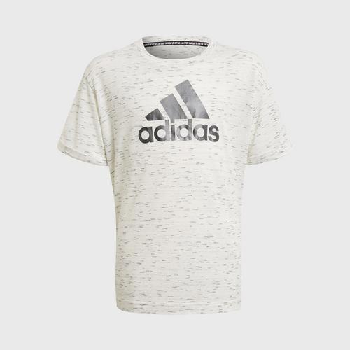 Adidas G BOS Tee - WHITE MELANGE SIZE 128 CM UK