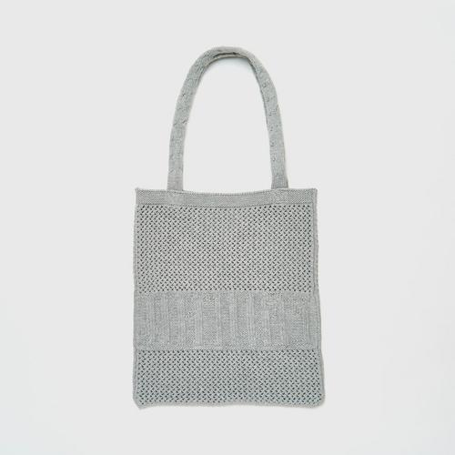 MAHANAKHON Knit Tote Bag Grey