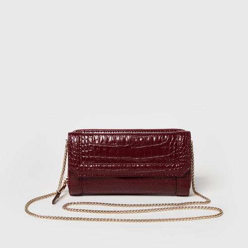 Longlai Classy Wallet on Chain Red Colour