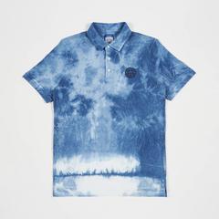 Leicester City Football Club Indigo Polo Shirt Printed Logo size S