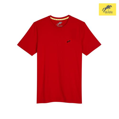 FELIX BÜHLER MEN'S SMART FIT T-SHIRT (RED) SIZE S