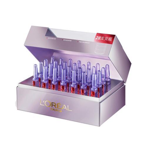 巴黎欧莱雅 - 复颜玻尿酸水光充盈导入 - 28 天浓缩安瓶精华液套裝 (安瓶精华液1.5ml x 28) - 抗衰老 - 套裝