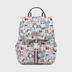 Cath Kidston Buckle Backpack Small London Map Stone
