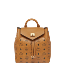 MCM ESSENTIAL VISETOS ORIGINAL BACKPACK - Cognac (Small)