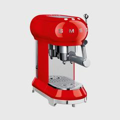SMEG Coffee Machine 50's Retro style Aesthetic ECF01RDEU - Red