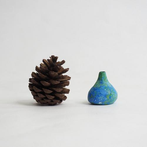 103 Paper mini vase Size S blue & green